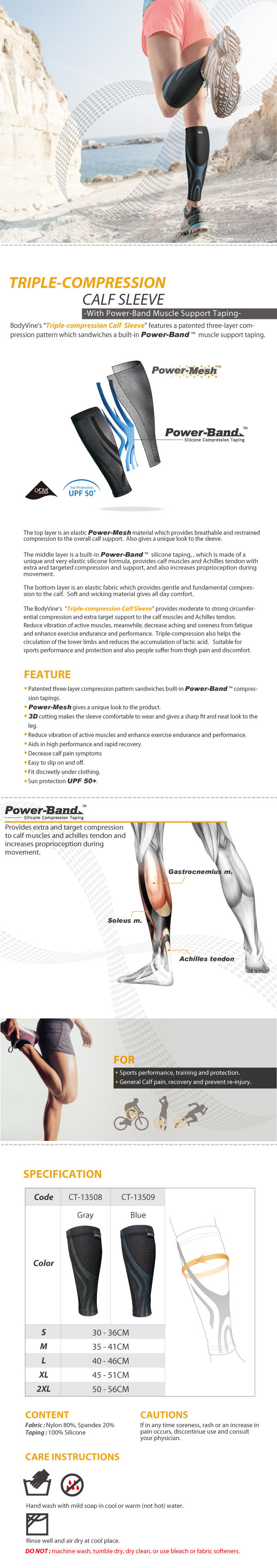 BodyVine-Triple-Compression-Calf-Sleeve_Muscle-Support-Taping