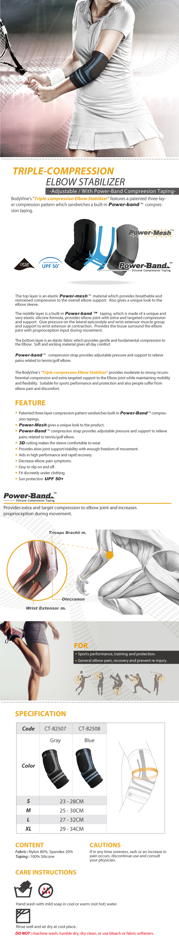 BodyVine-Triple-Compressin-Elbow-Stabilizer_Power-Band-Compression-Taping